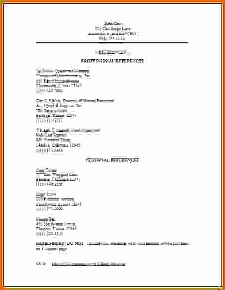 How to Make Simple Resume Lovely 11 How to Make A Simple Reference Sheet