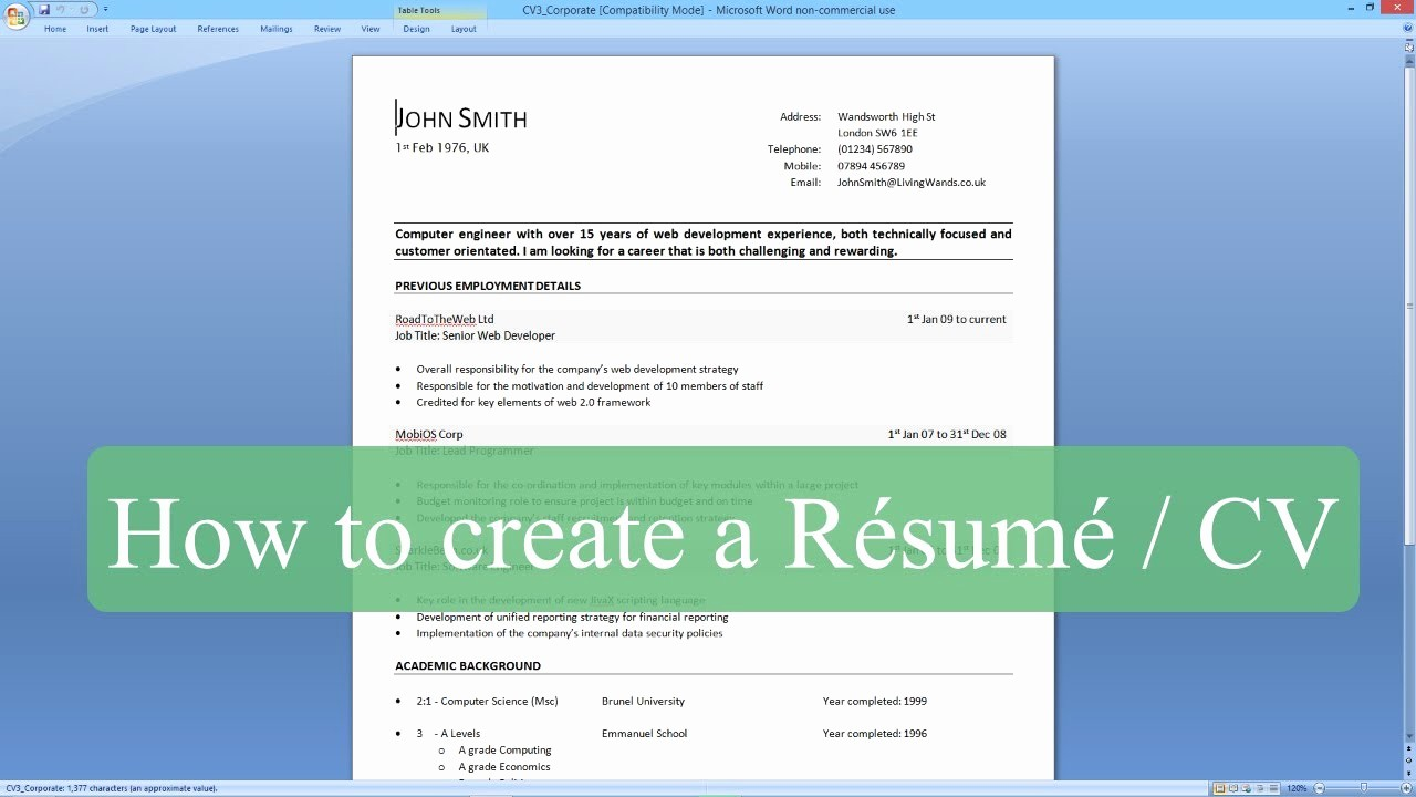 How to Make Simple Resume Lovely How to Write A Resume Cv with Microsoft Word