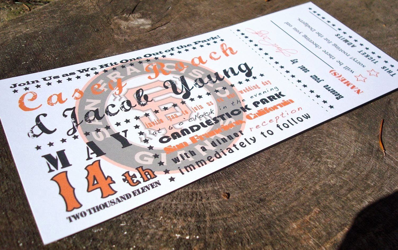 How to Make Ticket Invitations Awesome Baseball Ticket Wedding Invitation Sample