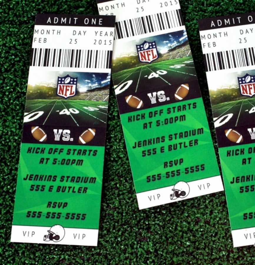 How to Make Ticket Invitations Awesome Best 20 Football Ticket Ideas On Pinterest