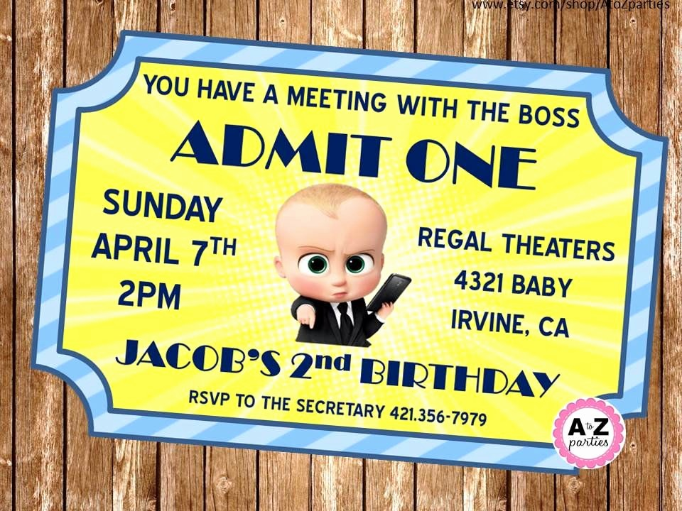 How to Make Ticket Invitations Awesome Boss Baby Personalized Invitation Movie Ticket Design