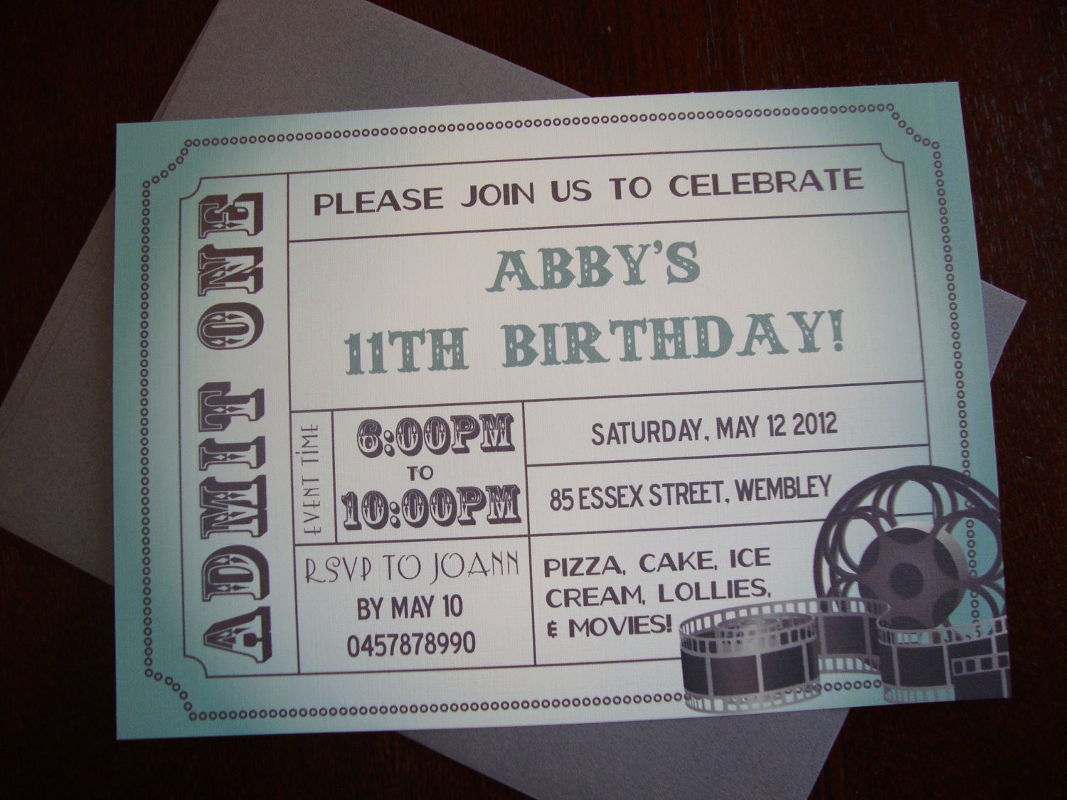 How to Make Ticket Invitations Awesome Diy Printable Movie Ticket Birthday Invitation