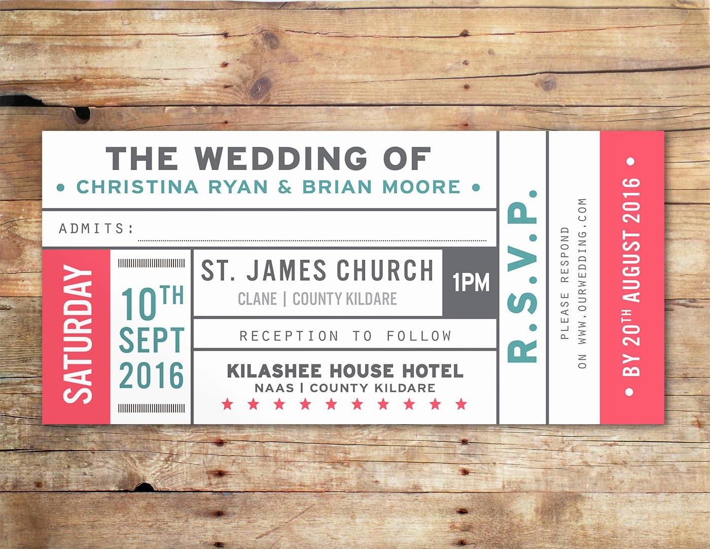 How to Make Ticket Invitations Beautiful Vintage Ticket Wedding Invitations Uk & Ireland