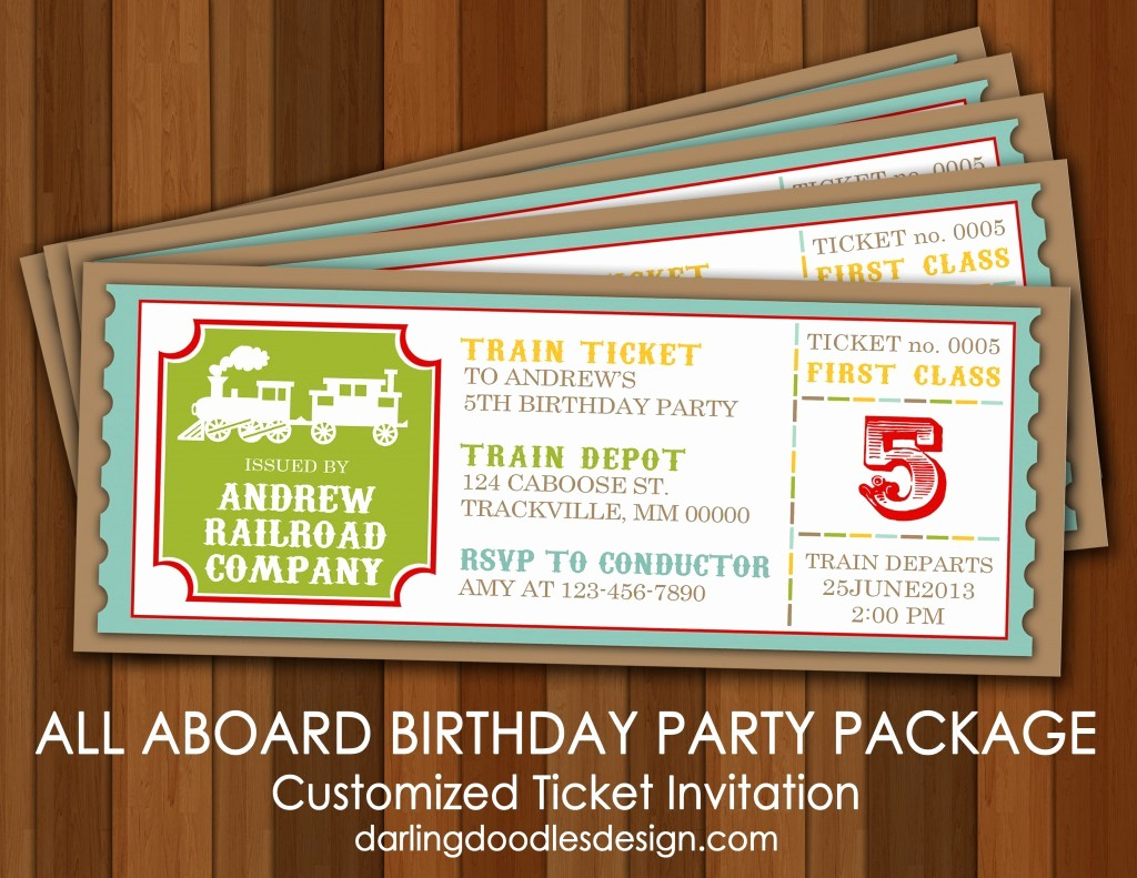 How to Make Ticket Invitations Best Of All Aboard the Party Train Darling Doodles