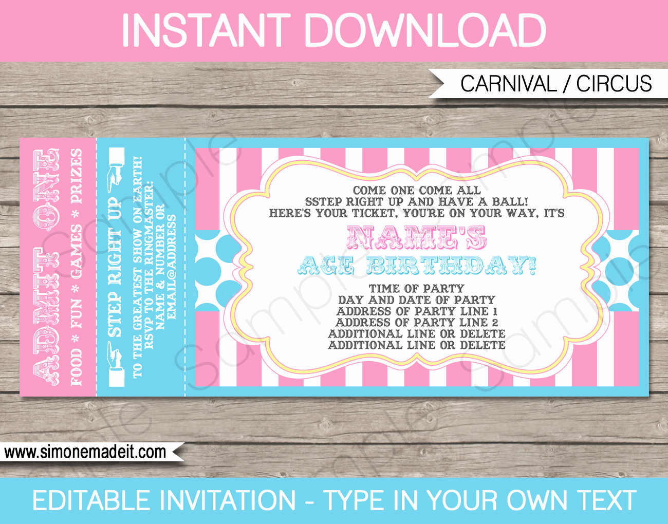 How to Make Ticket Invitations Best Of Carnival Ticket Invitations Template Carnival