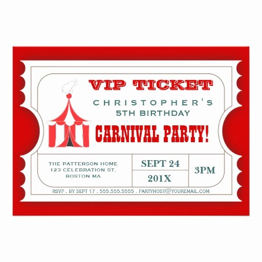 How to Make Ticket Invitations Best Of Circus Ticket Style Invitation Template