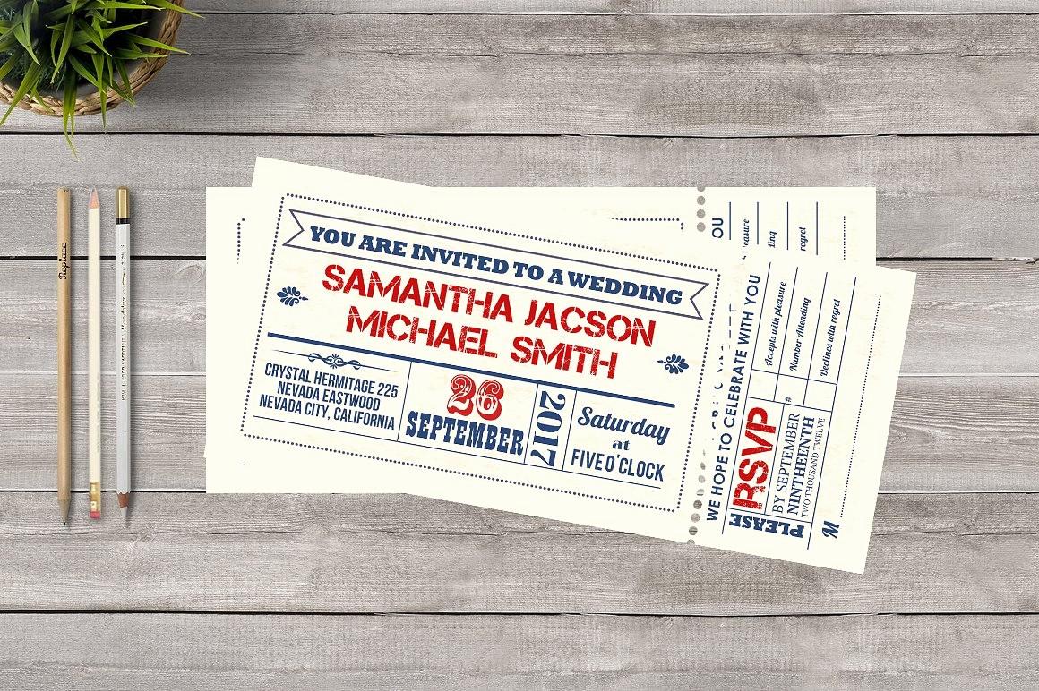 How to Make Ticket Invitations Best Of Ticket Wedding Invitation Invitation Templates