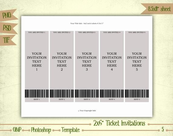 How to Make Ticket Invitations Fresh Ticket Invitations Digital Collage Sheet Layered Template