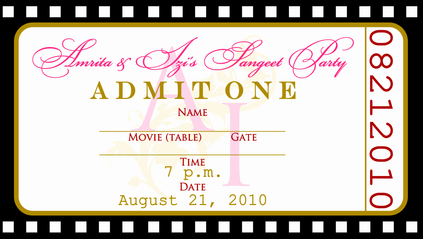 How to Make Ticket Invitations Lovely Free Templates for Birthday Invitations