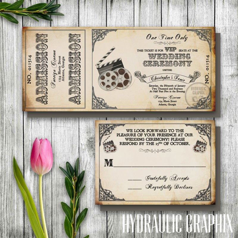 How to Make Ticket Invitations Lovely Vintage Wedding Ticket Invitation Printable Ticket