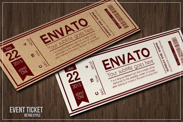 How to Make Ticket Invitations Luxury 115 Ticket Templates Word Excel Pdf Psd Eps