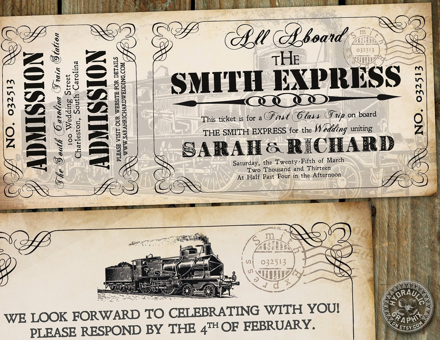 How to Make Ticket Invitations Luxury Steampunk Printable Train Ticket Invitation by