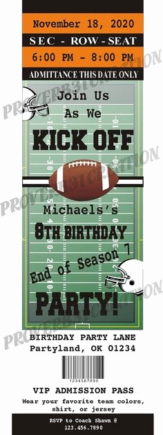 How to Make Ticket Invitations New Free Printable Football Invitation Templates