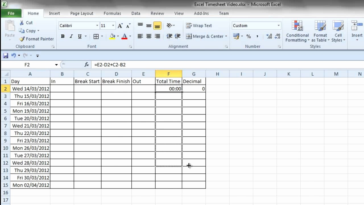 How to Make Time Sheets Awesome Simple Excel Timesheet
