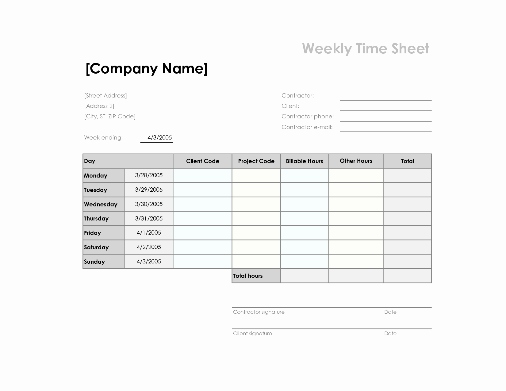 How to Make Time Sheets Best Of 7 Best Of Simple Printable Time Sheets Printable