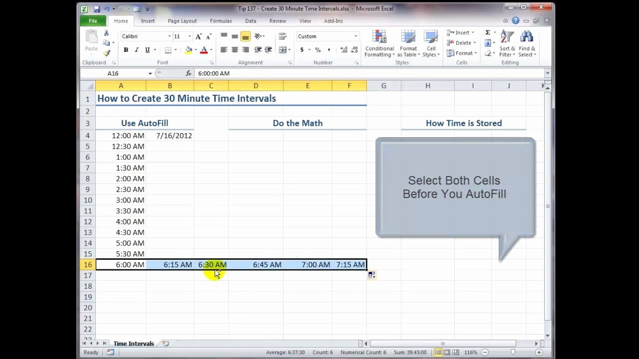 How to Make Time Sheets Fresh How to Create 30 Minute Time Intervals In Excel