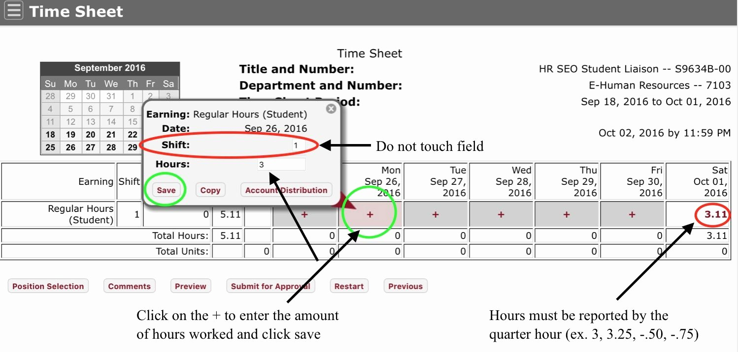 How to Make Time Sheets Lovely Timesheets Student Employment Fice