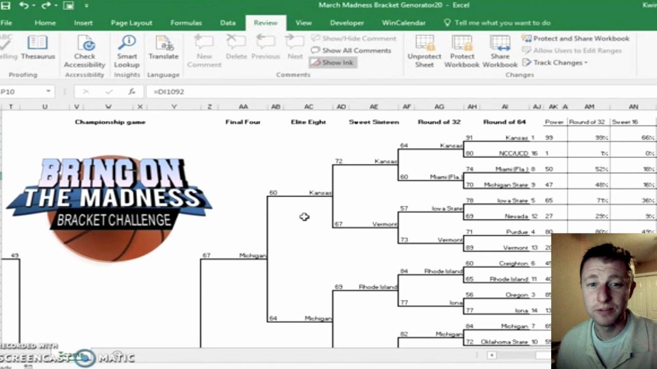 How to Make tournament Bracket Awesome 2017 Ncaa tournament Bracket Generator Excel