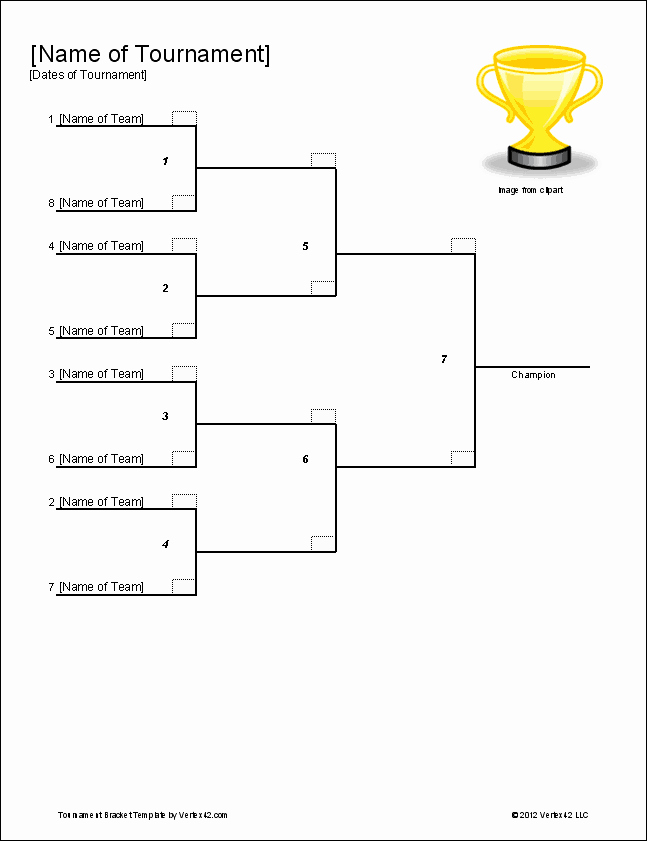 How to Make tournament Bracket Awesome tournament Bracket Templates for Excel 2019 March