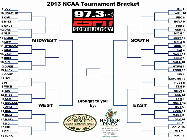 How to Make tournament Bracket Best Of Print Out Your 2013 Ncaa March Madness Bracket Here