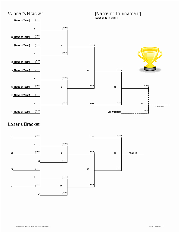 How to Make tournament Bracket Fresh tournament Bracket Templates for Excel 2016 March