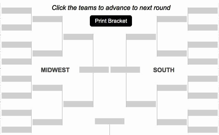 How to Make tournament Bracket New Create Your Own Bracket Ncaa Men S Basketball tournament