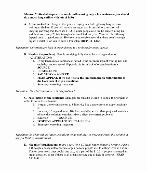 How to Outline A Speech Beautiful 7 Persuasive Speech Outline Template Doc Pdf
