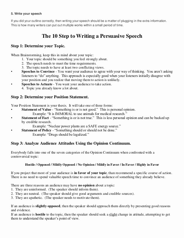 How to Outline A Speech Inspirational How to Write An Outline for A Persuasive Speech
