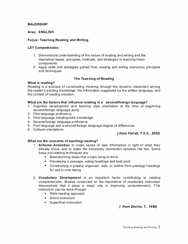 How to Outline A Speech New Teaching Reading and Writing 4 Of 16