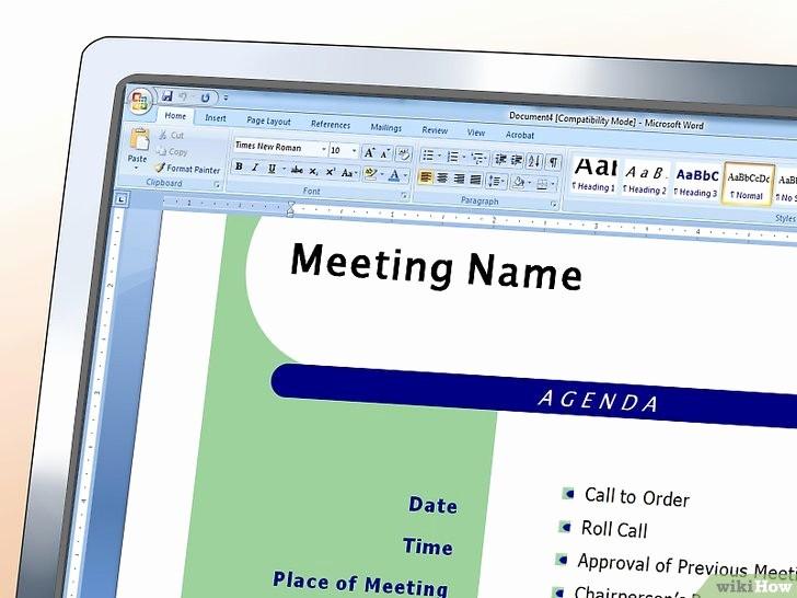 How to Prepare An Agenda Awesome E Scrivere Il Programma Di Un Meeting 16 Passaggi