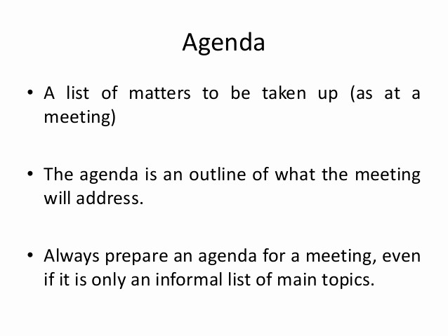 How to Prepare An Agenda Beautiful Agenda and Meeting Minutes