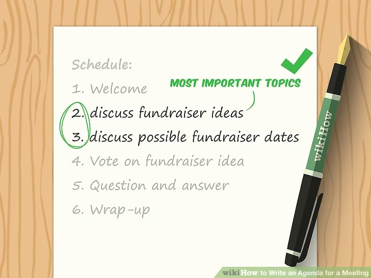 How to Prepare An Agenda Elegant How to Write An Agenda for A Meeting with Sample Agendas