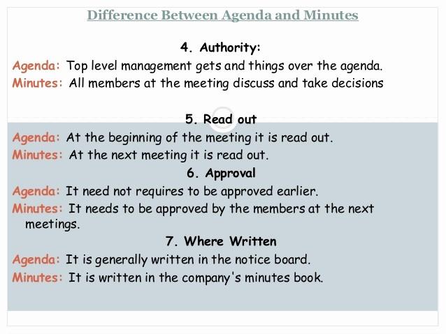 How to Prepare An Agenda Elegant Notice Agenda Minutes