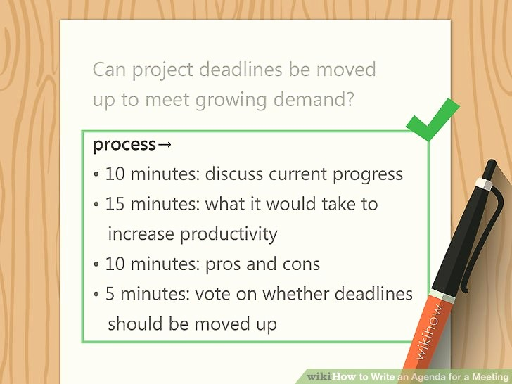 How to Prepare An Agenda Fresh How to Write An Agenda for A Meeting with Sample Agendas