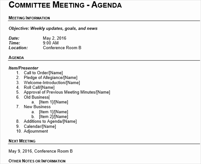 How to Prepare An Agenda Luxury 15 Best Meeting Agenda Templates for Word