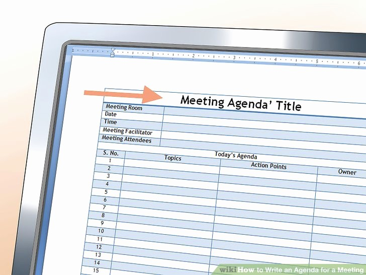 How to Prepare An Agenda New How to Write An Agenda for A Meeting with Sample Agendas