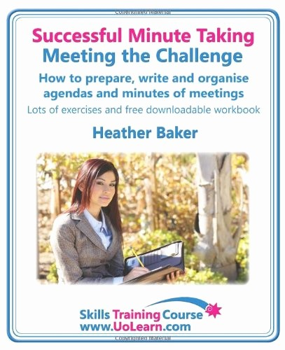 How to Prepare An Agenda New Successful Minute Taking Meeting the Challenge How to