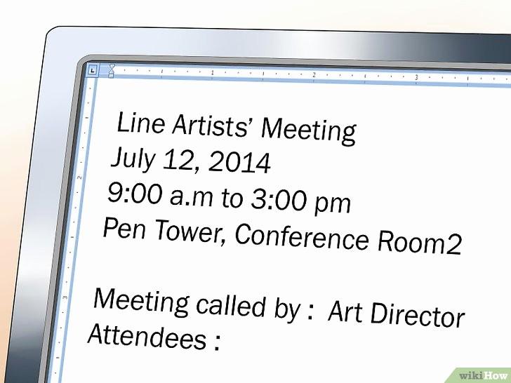 How to Prepare An Agenda Unique E Scrivere Il Programma Di Un Meeting 16 Passaggi