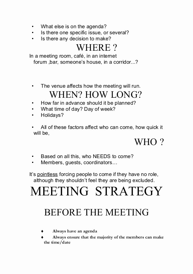 How to Prepare An Agenda Unique How to Make Meetings Work Zied Mhirsi