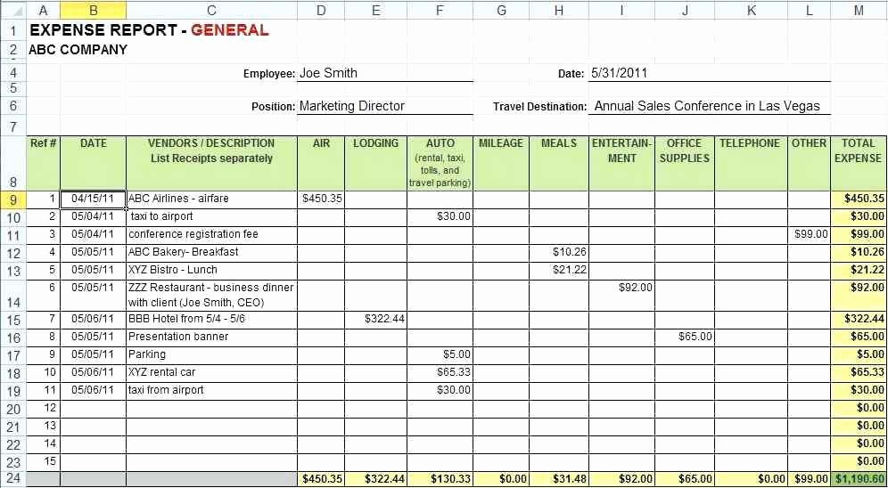 How to Prepare Expense Reports Awesome Expenses Spreadsheet Template Excel Best for Mac App