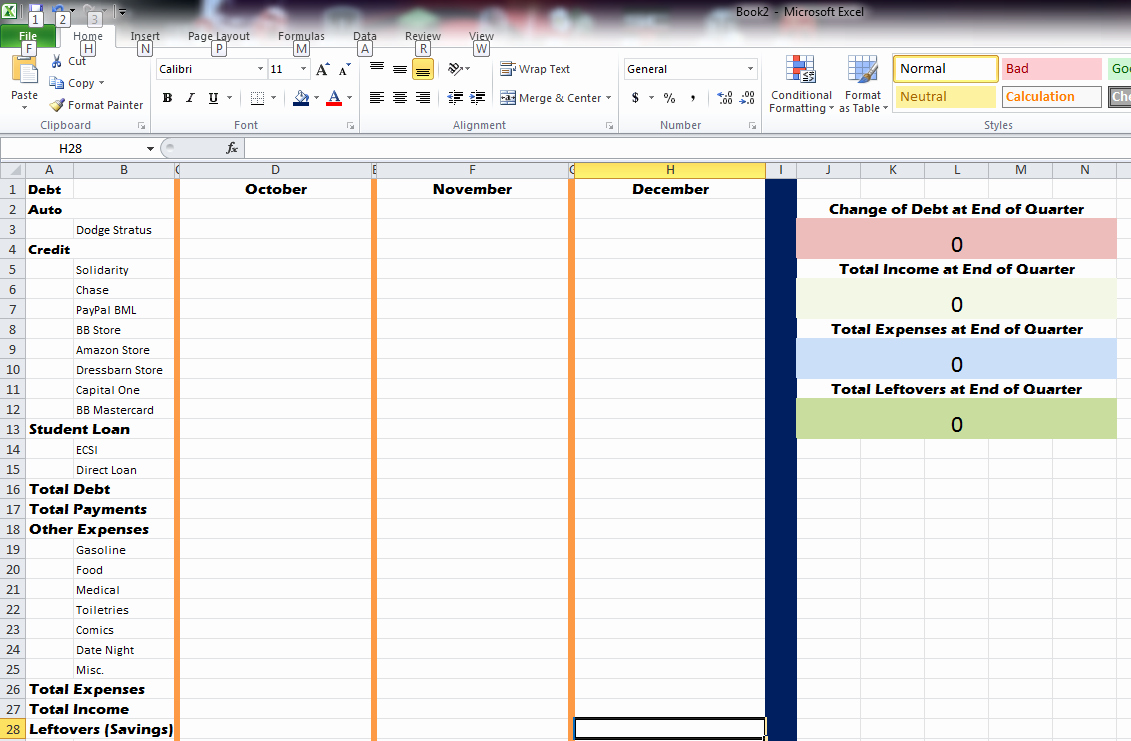 How to Prepare Expense Reports Best Of How to Make A Quarterly Debt Expense Report In Excel