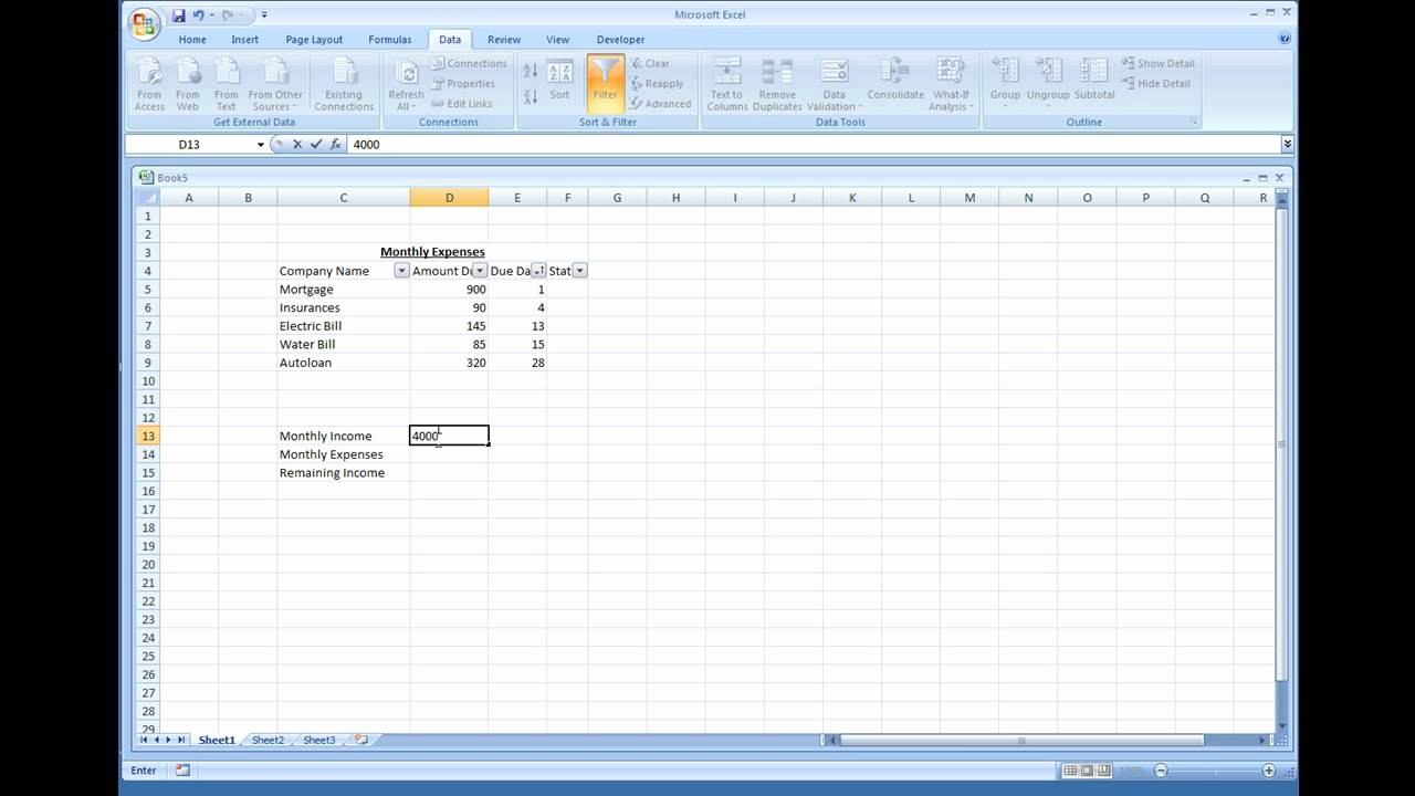 How to Prepare Expense Reports New Microsoft Excel Creating A Simple Expense Sheet
