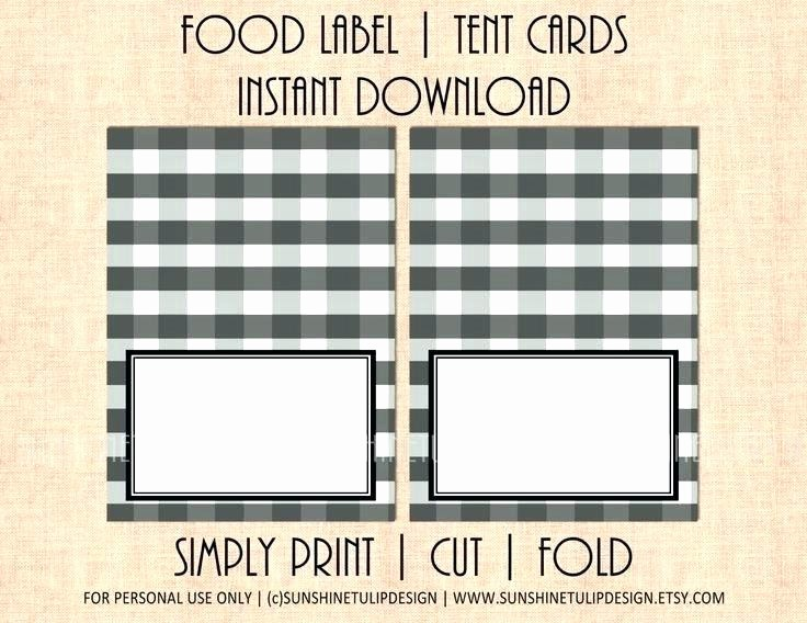 How to Print Table Tents Best Of Tent Card Template Inspirational Food Labels