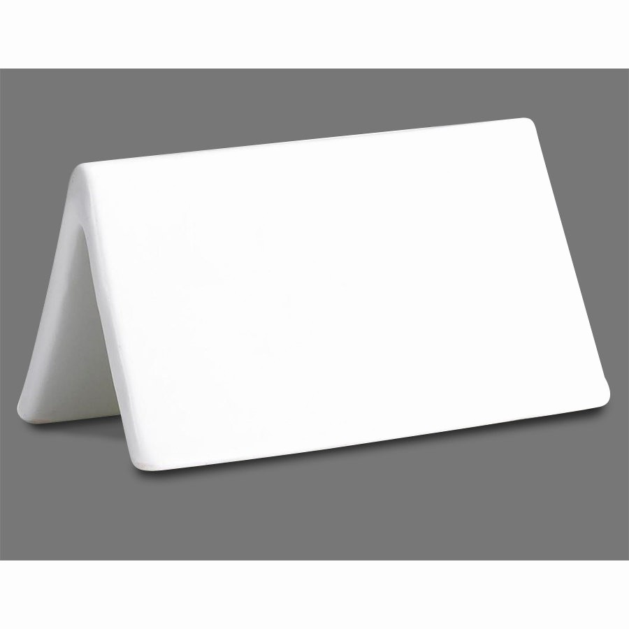 How to Print Table Tents Elegant Tablecraft P16 Ceramic Dry Erase Table Tent Sign Double