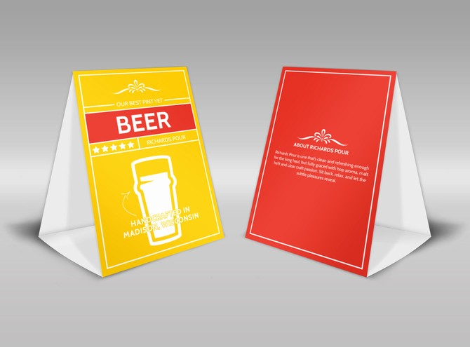 How to Print Table Tents Lovely Generic Table Tent Templates