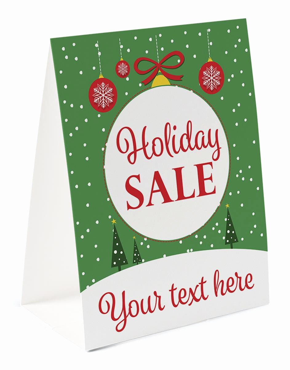 "How to Print Table Tents Lovely ""holiday Sale"" Paper Table Tent"