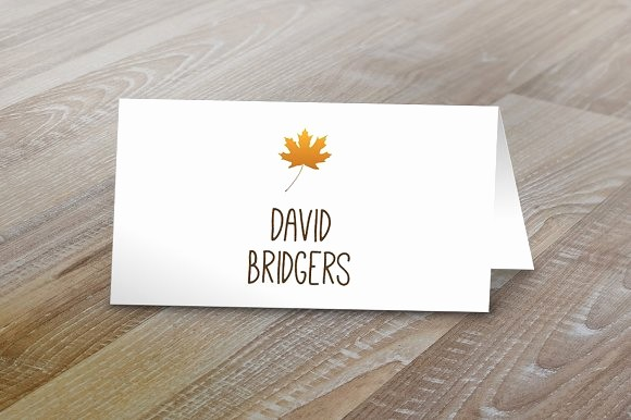 How to Print Tent Cards Awesome Fall Table Tent Name Cards Card Templates On Creative Market