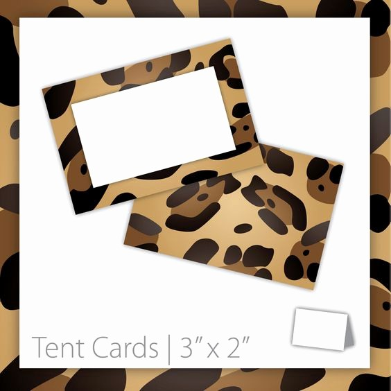 How to Print Tent Cards Beautiful Animal Print Tent Cards Blank Printable