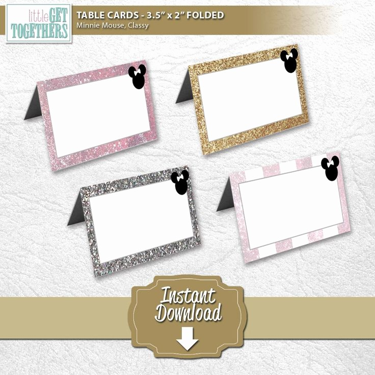 How to Print Tent Cards Beautiful Minnie Mouse Classy Table Tent Folded Cards Diy