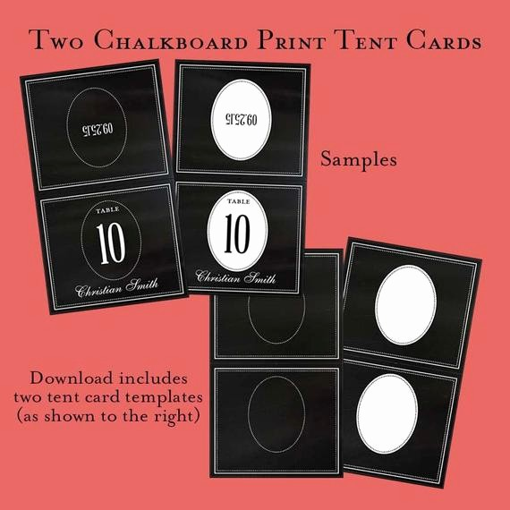 How to Print Tent Cards Best Of Digital Chalkboard Print Table Tent Card Templates Wedding